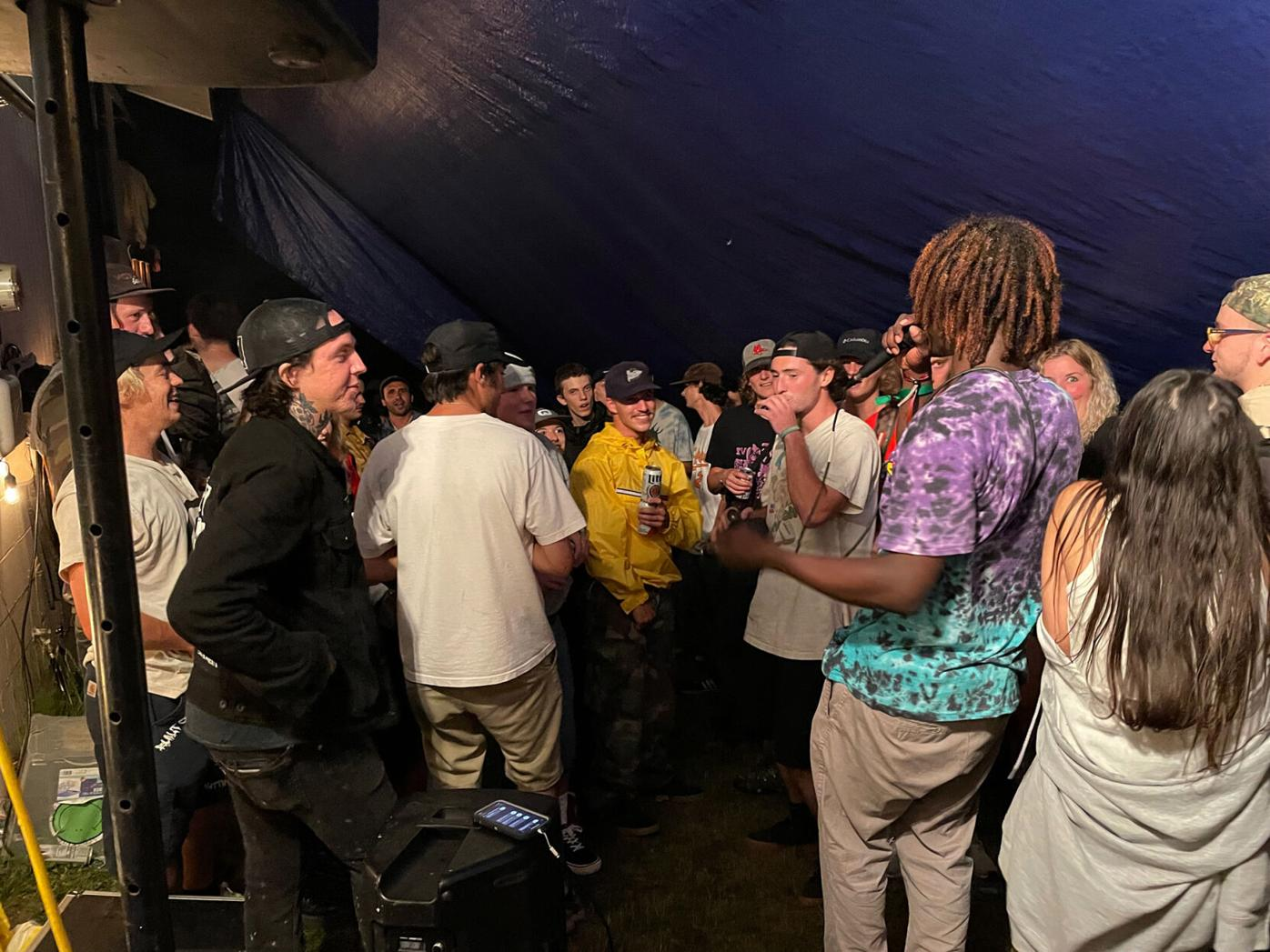 Yvng Ohm aka LoodTR freestyles with the crowd by Brooke Geery.jpg