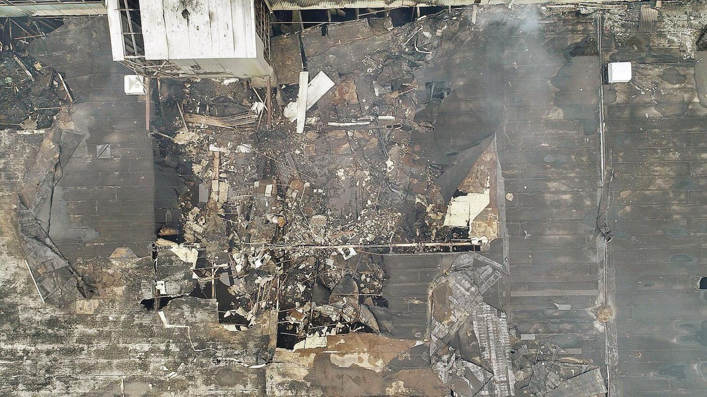 Grandstand gutted in suspicious fire