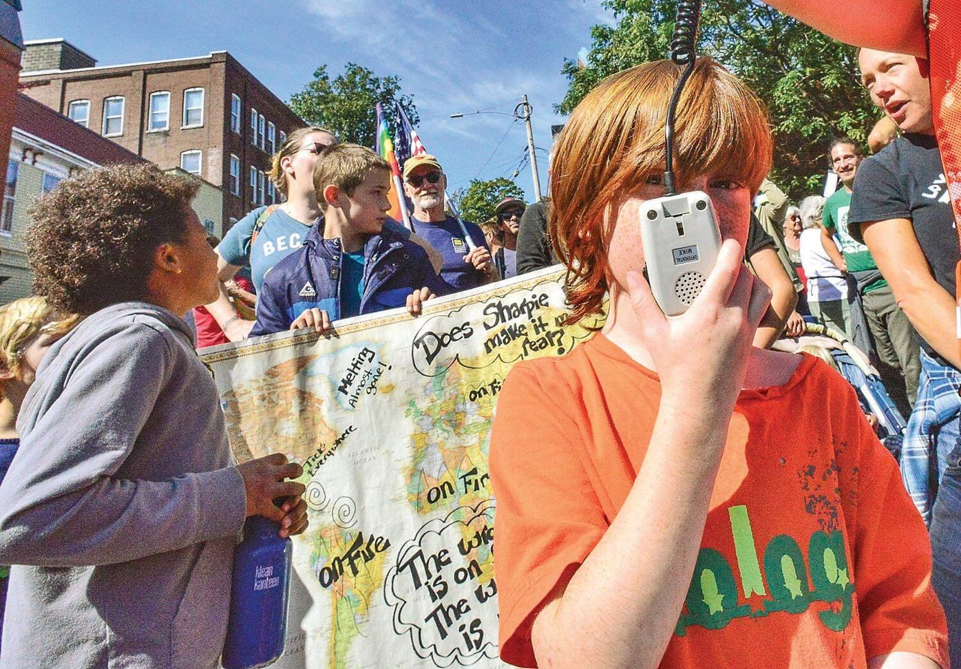 'We are the Lorax' Students rally for climate change action day