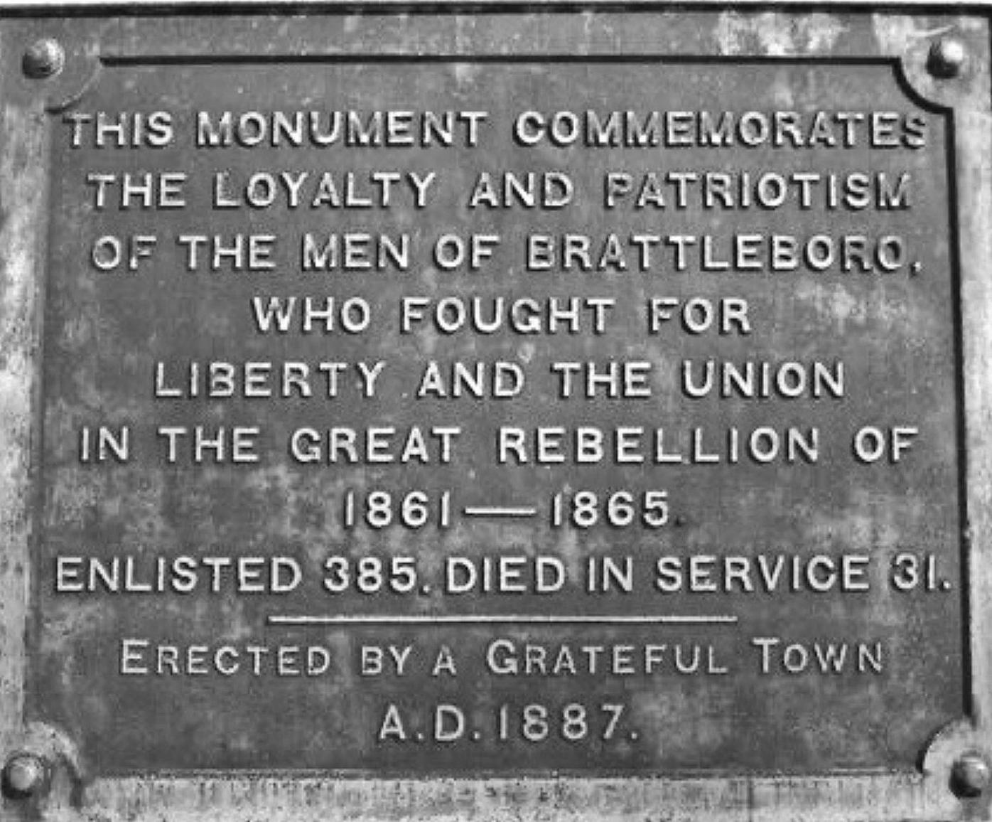 Historic discrepancies at Soldiers' Monument should be remedied.