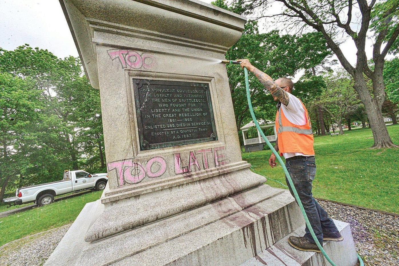 Cleaning another War Memorial