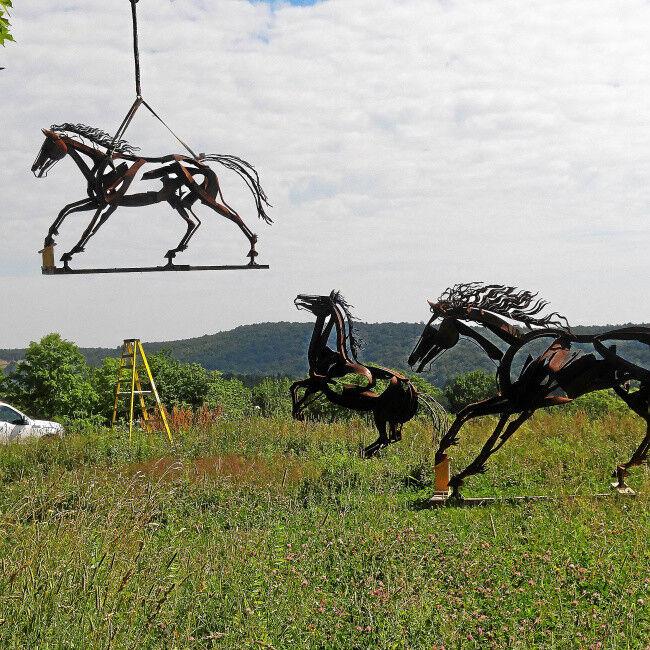 Putney's Fichter horse sculptures headed west