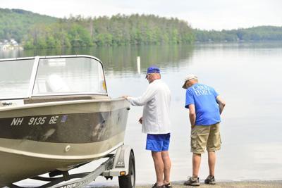 Hosts help keep Spofford Lake free of invasive species