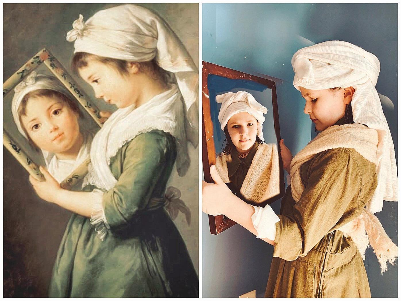 The art of family quarantine: Mom, dad, kids reenact paintings at home