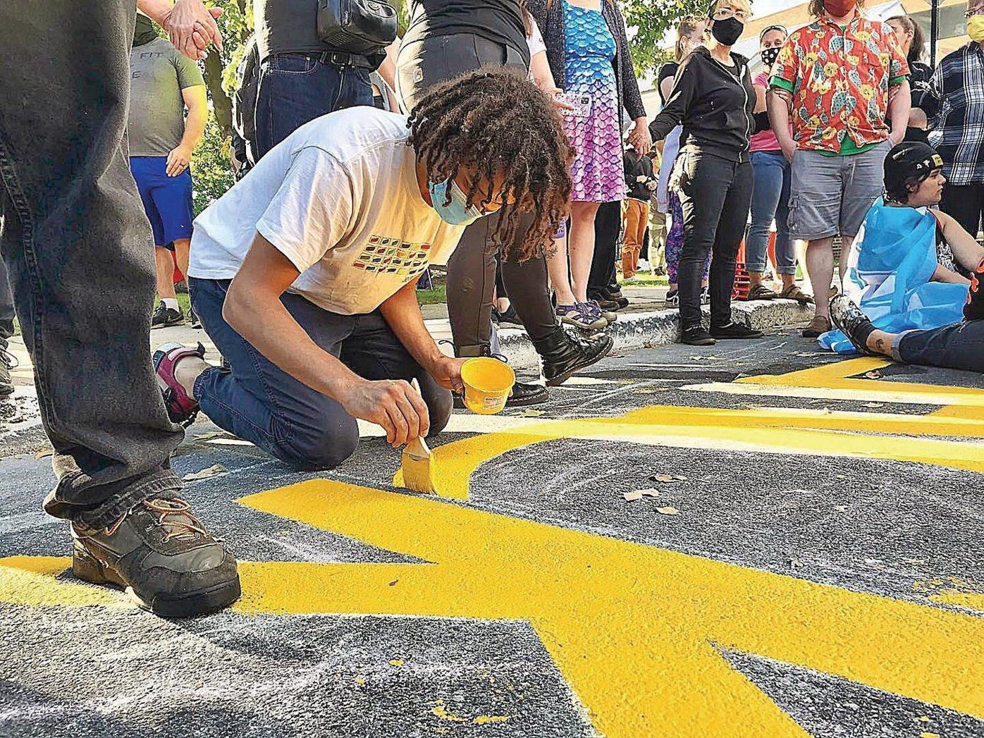 Bennington Black Lives Matter mural finished despite protests