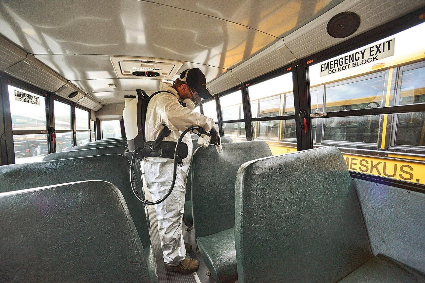 Disinfectant systems coming to school buses
