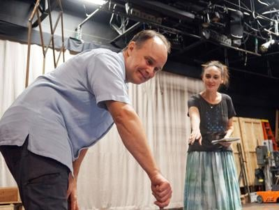 Oliver Wadsworth and Rebecca Mozo in rehearsals for Oldcastle Theatre Company's production of The Turn of the Screw, by Jeffrey Hatcher.jpg