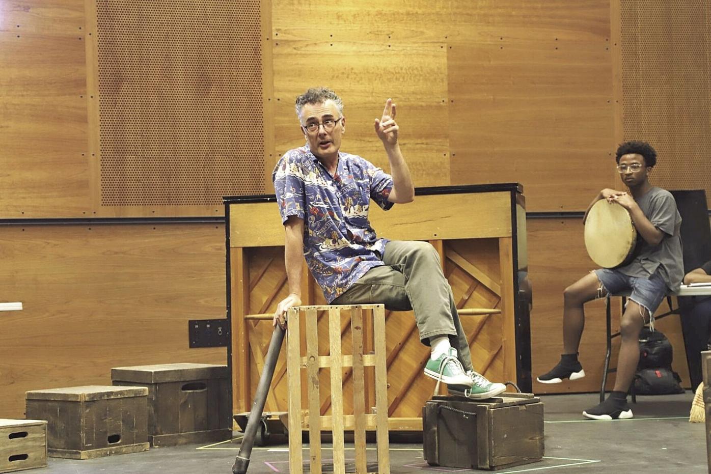 1-Weston-David Bonanno in rehearsal for An Iliad-T5.jpg