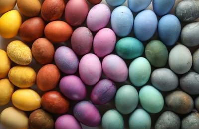 NATURAL DYED EGGS 1