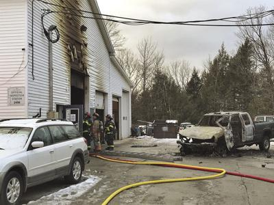Vehicle and garage fire