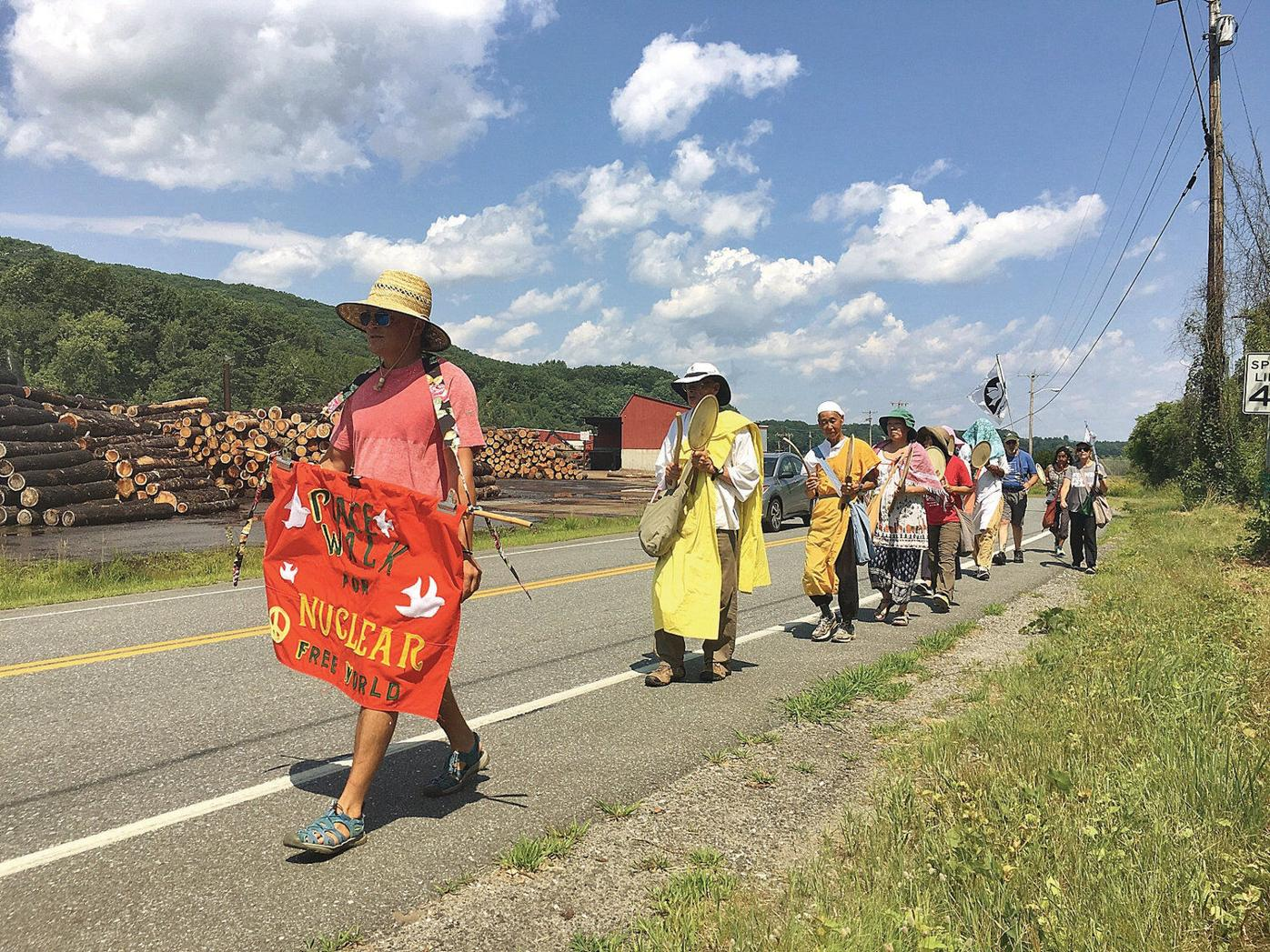 Anti-nuke activists march to Vt. Yankee