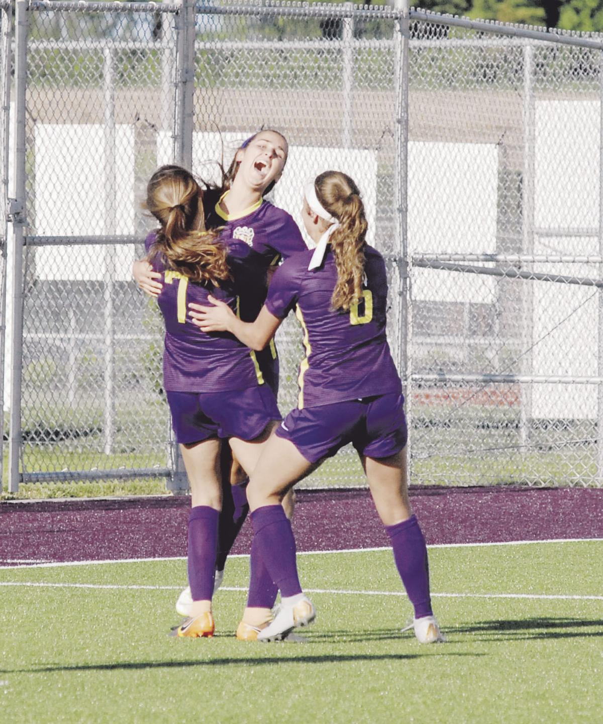 Two late first-half goals sting in Lady Broncos loss