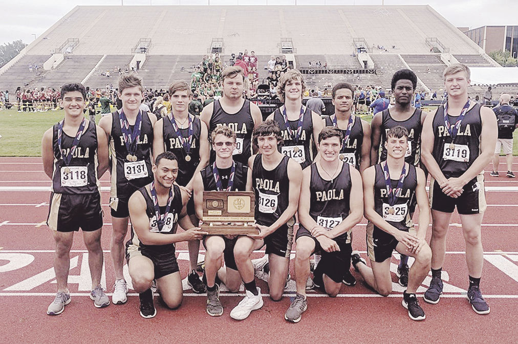 Paola Panthers place third in state track meet