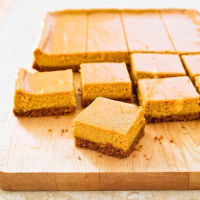 Food Column ATK Pumpkin Cheesecake Bars