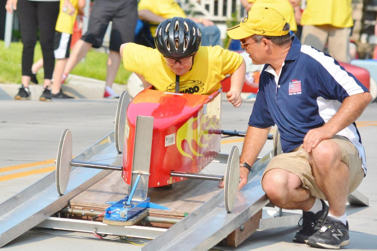 Spectators rally for Soap Box Derby