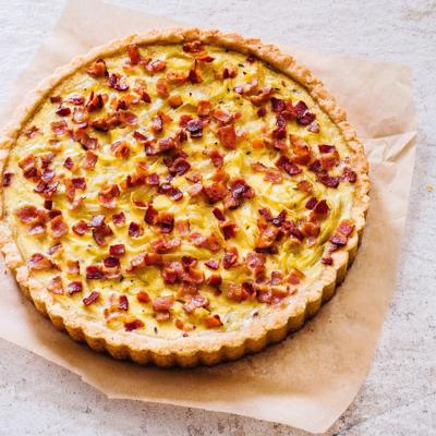 Food Column ATK French Onion and Bacon Tart