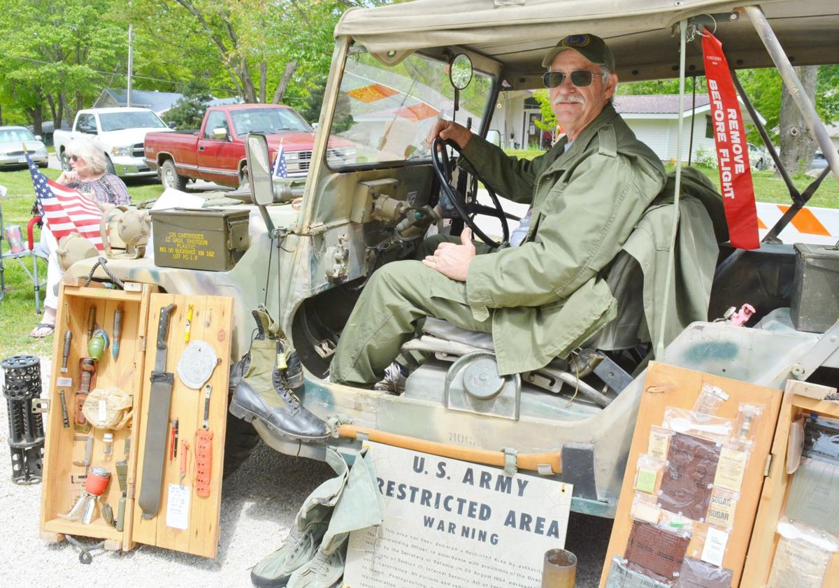 Couple's military memorabilia display continues to turn heads
