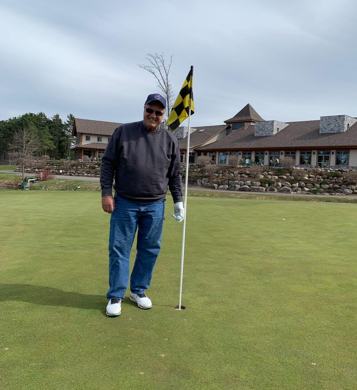 Jim Bryant playing golf