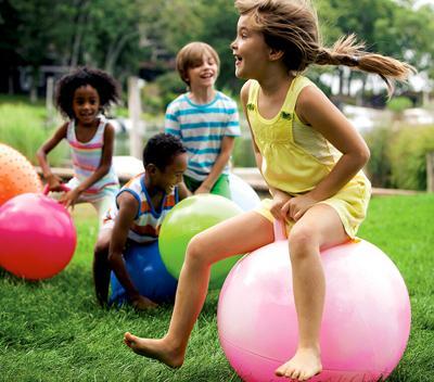 Children having summer fun