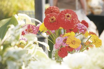 Red Wing, Minn. farmer's market flowers