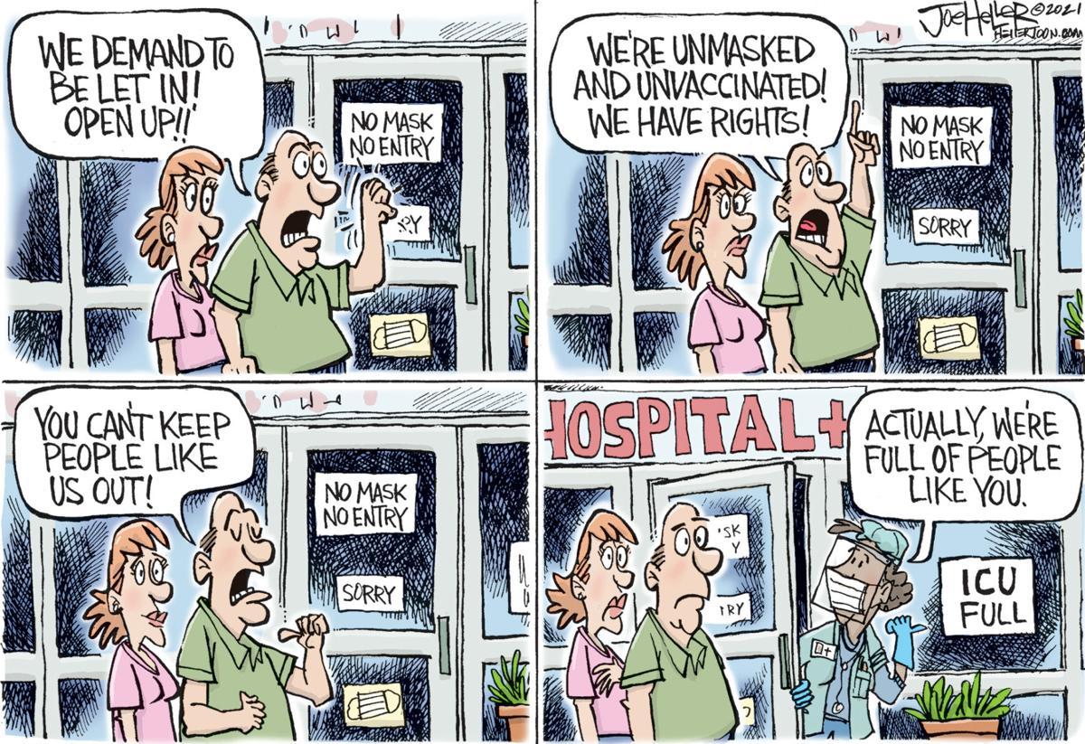 Editorial cartoon Joe Heller full hospital.jpg