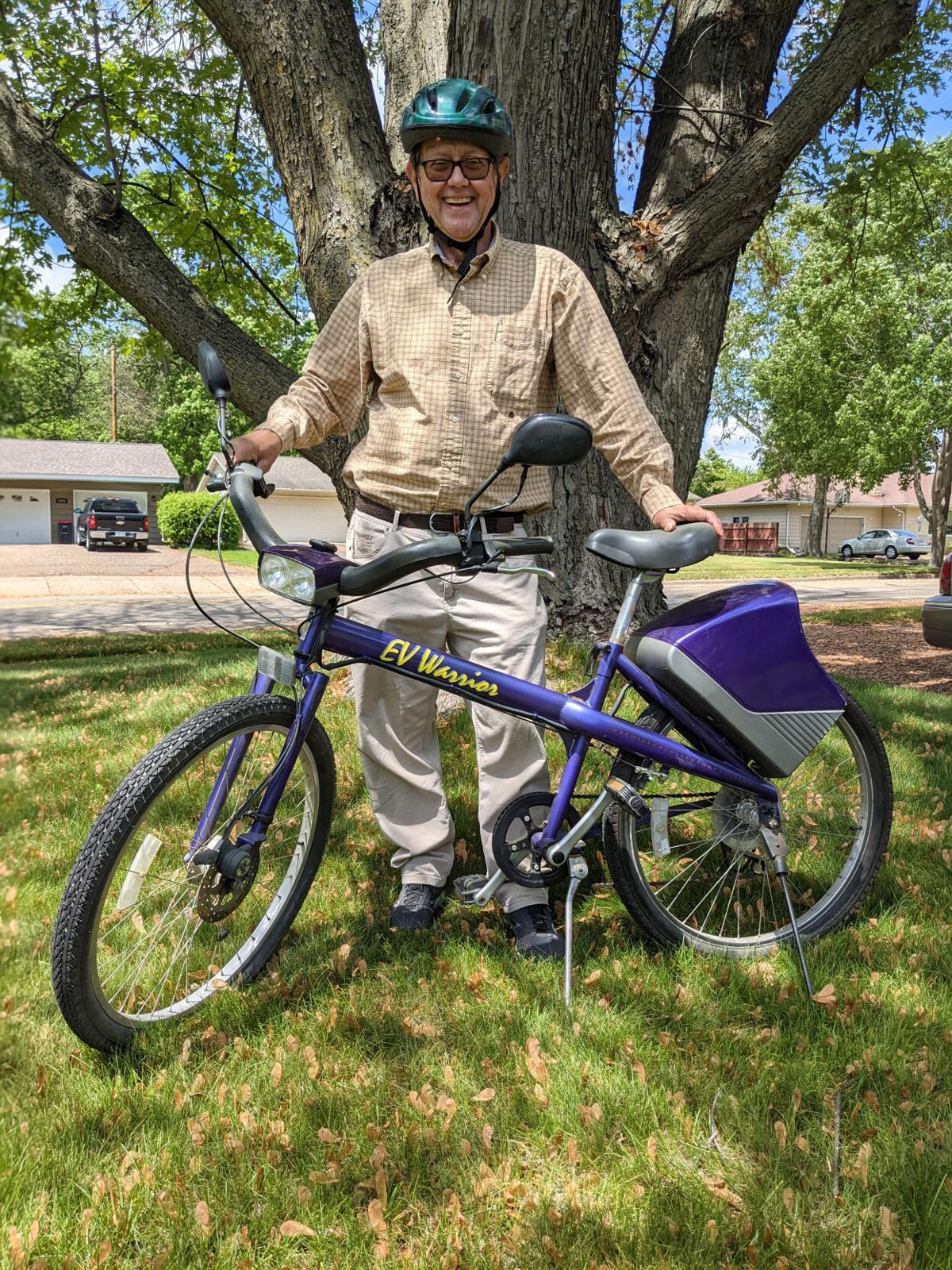 Paul Drotos and bike