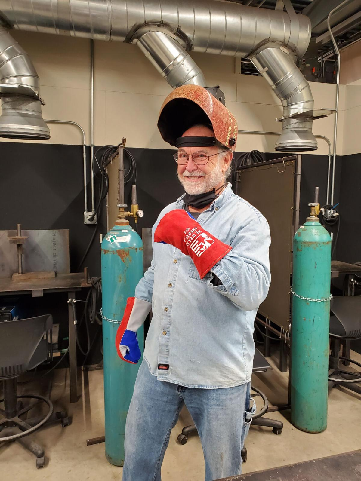 Welding instructor Mike Ford