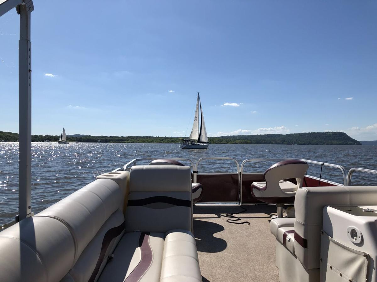 Boats on Lake Pepin