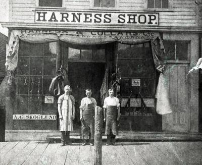 Historic photo: A.G. Skoglund Harness Shop, Red Wing