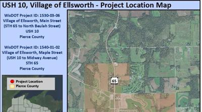 Wisconsin Department of Transportation ready to reconstruct Highways 10 and 65 in Ellsworth