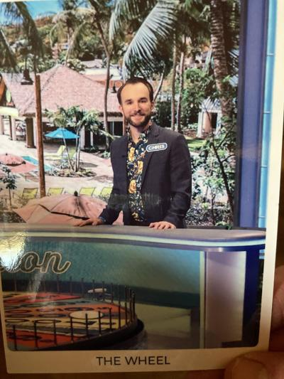 Chris Newman on the Wheel of Fortune