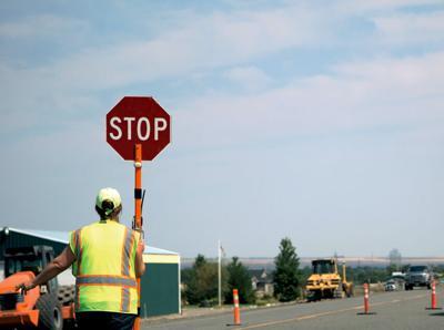 Road construction flagger RTSA