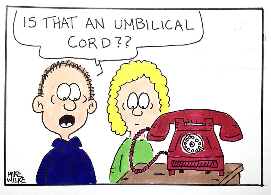 Editorial cartoon Mike Wilke dialup