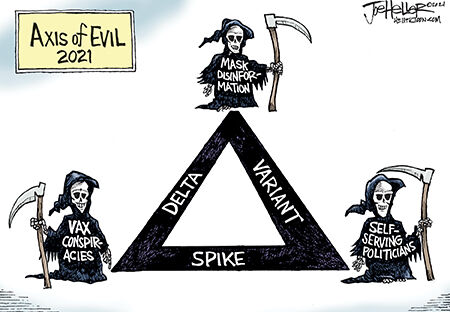Editorial Cartoon  Joe Heller axis of health evil.jpg
