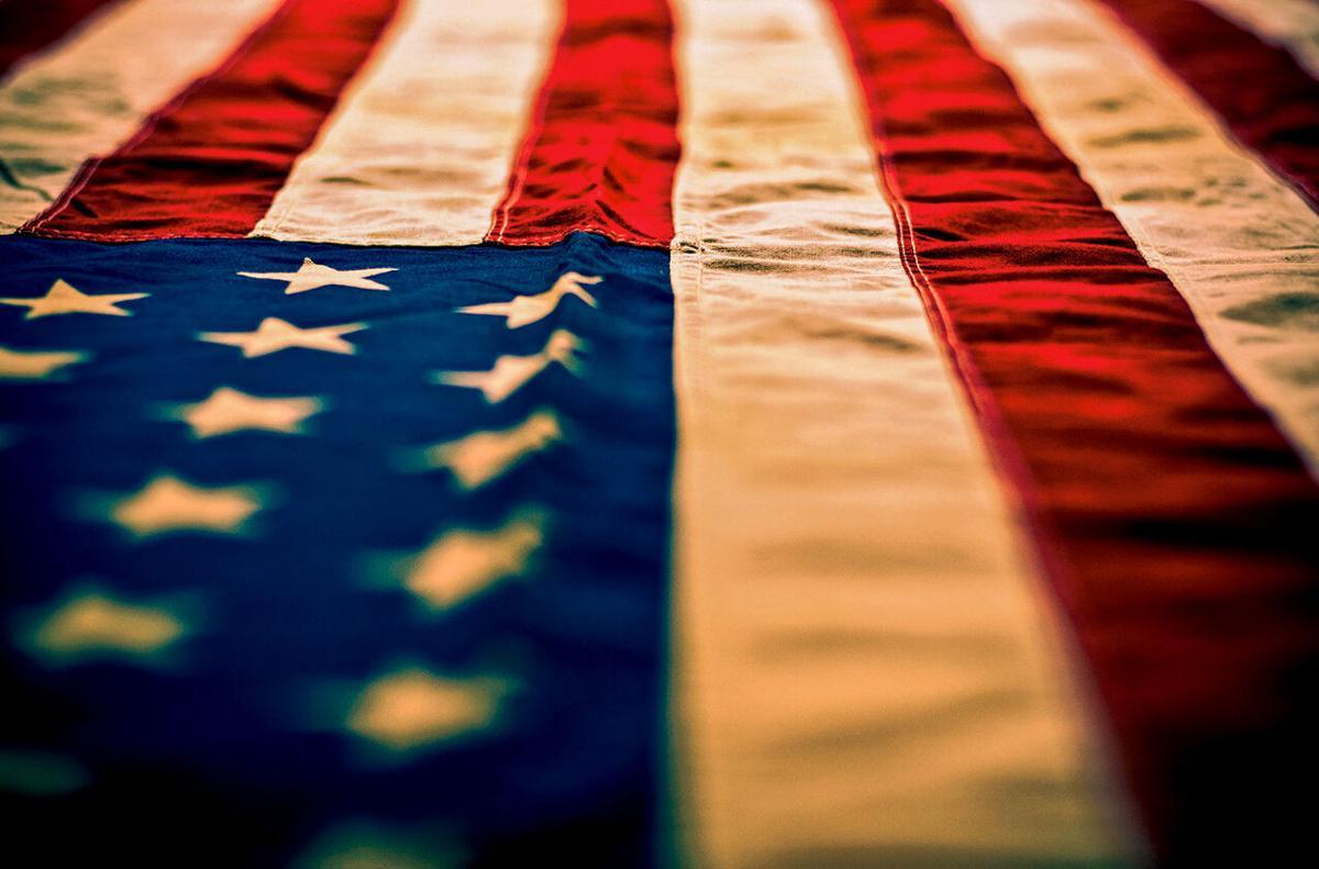American flag RTSA closeup