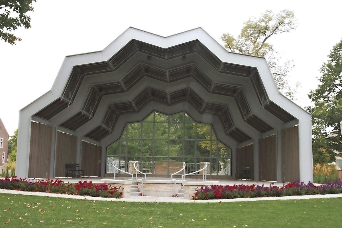 Red Wing bandshell in Central Park