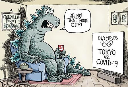 Editorial cartoon Joe Heller Japan covid.jpg