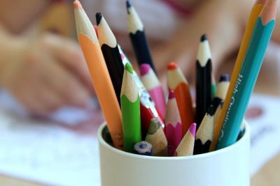 School supplies stock image