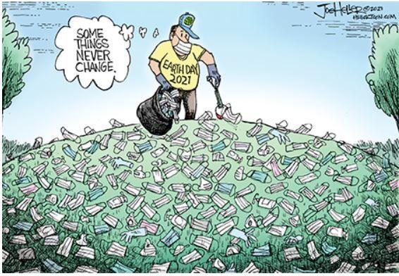 Editorial cartoon Joe Heller Earth Day 2021