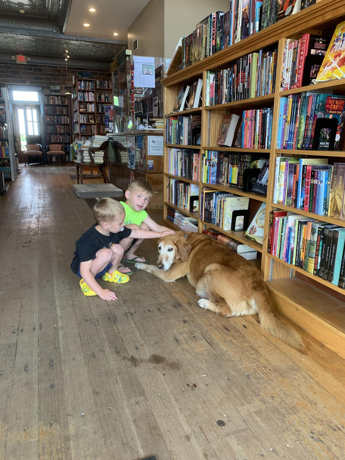 Fair Trade Books and dog