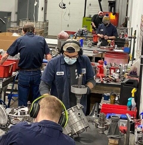 Zumbrota Drivetrain workers