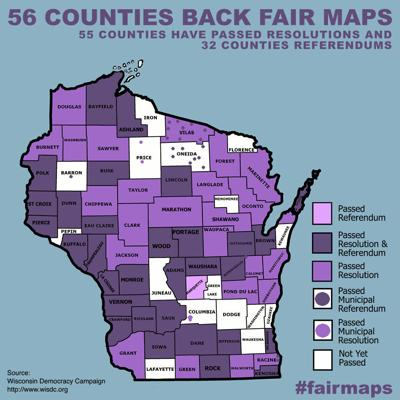 Wisconsin Fair Map May 2021