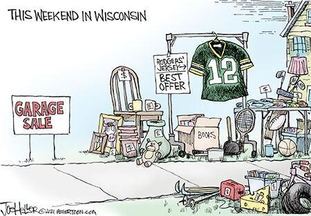Editorial Cartoon Joe Heller Aaron Rodgers