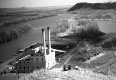 Historic photo: Northern States Power Co. steam plant
