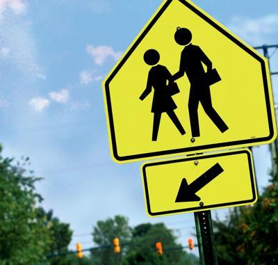 Pedestrian crossing sign RTSA