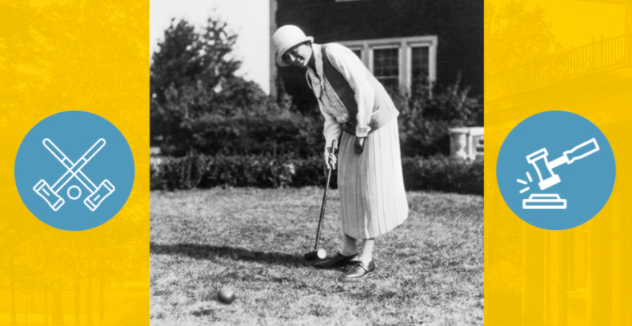 Croquet tournament at the Anderson Center, Red Wing