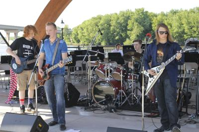 Voltage performed at the Rotary Pavilion during the event.