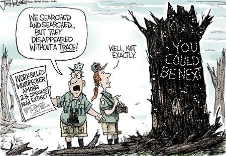 Editorial cartoon Joe Heller extinction 092721.jpg