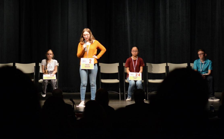 Heidi Bauer at 2020 spelling bee at PSU Schuylkill