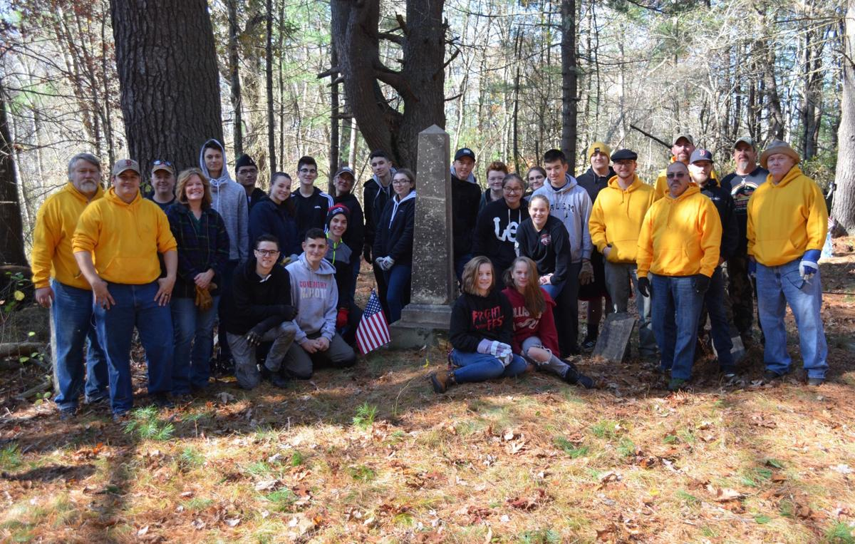 JROTC students join with Civil War history group to restore local veterans' burial sites